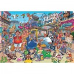 Puzzle  Jumbo-25004 Wasgij Original 37 - Holiday Fiasco