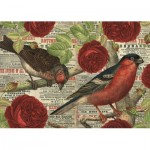 Puzzle   Birds love flowers