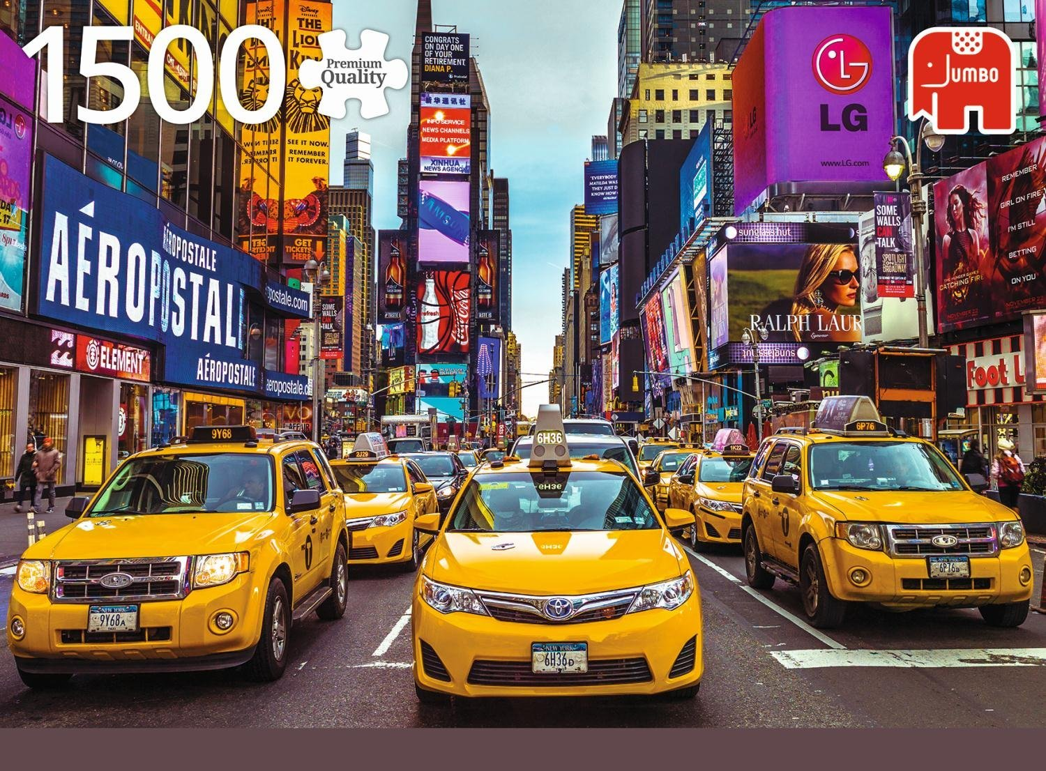 puzzle new york taxi jumbo 18527 1500 pieces jigsaw. Black Bedroom Furniture Sets. Home Design Ideas