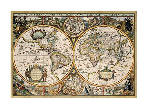 Puzzle world map from 1630 jumbo 18345 1500 pieces jigsaw puzzles world map from 1630 gumiabroncs