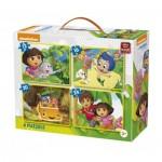 4 Jigsaw Puzzles - Nickelodeon & Dora