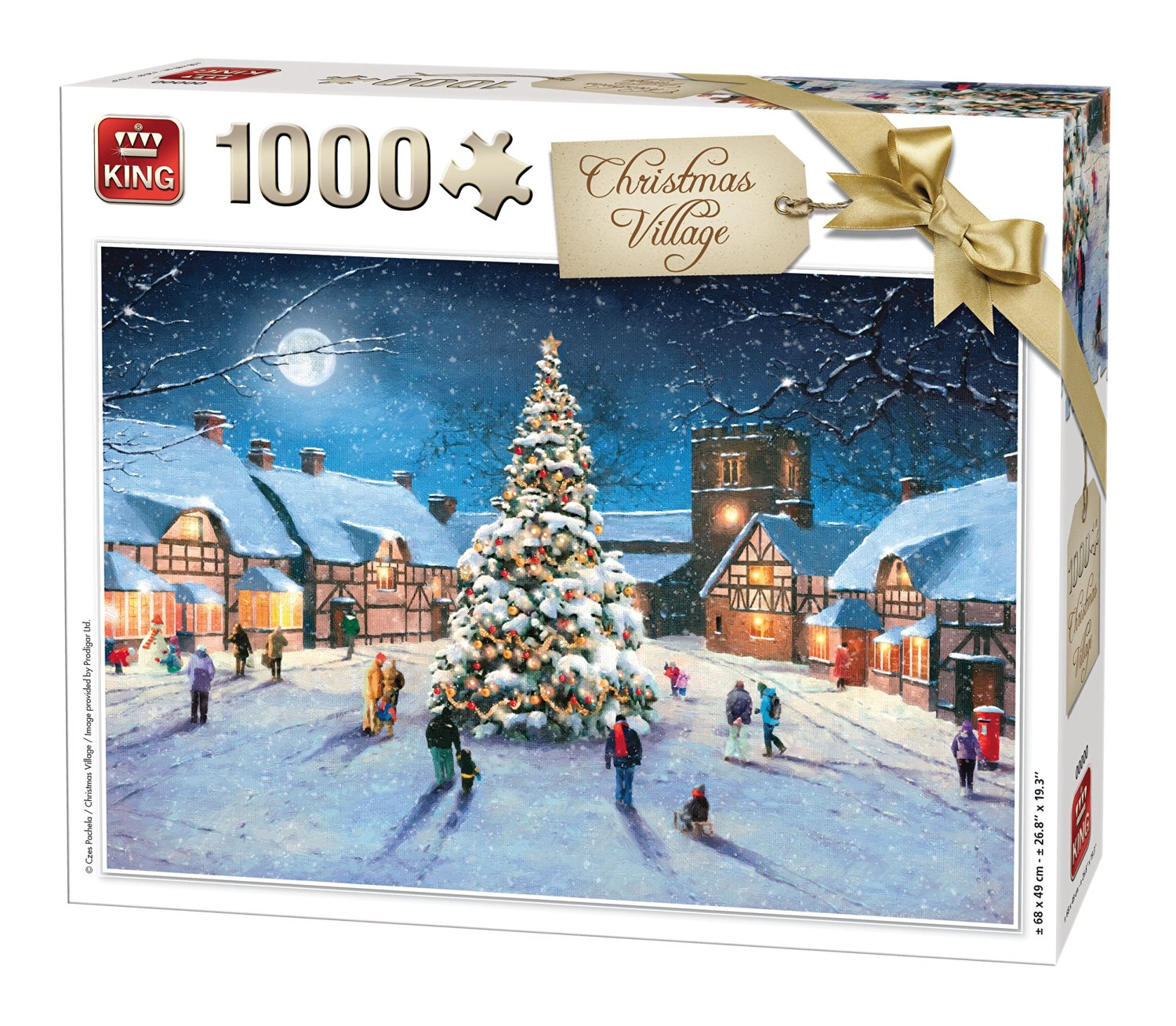 Puzzle Christmas Village King-Puzzle-05610 1000 pieces Jigsaw ...