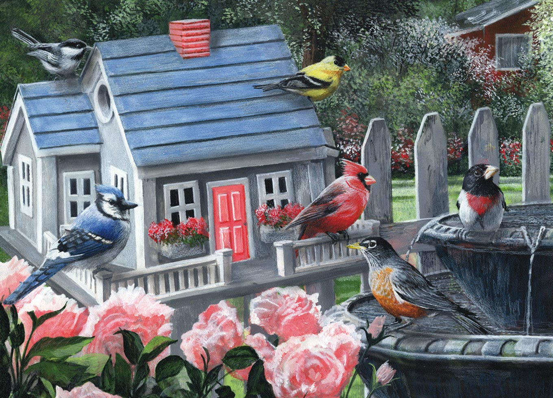 54344 Puzzle King International 1000 pièces-Colorful Birds