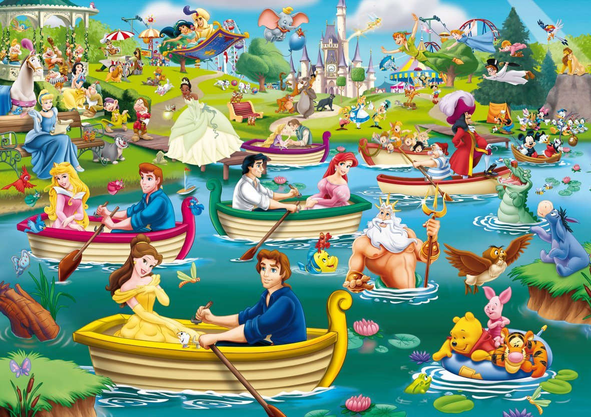Uncategorized Puzzles Disney puzzle disney fun on the water king 05260 1000 pieces water