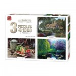King-Puzzle-05207 3 Jigsaw Puzzles - Garden Collection