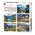 King-Puzzle-05209 5 Jigsaw Puzzles - Landscape Collection