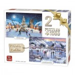 King-Puzzle-05217 2 Puzzles - Christmas Collection