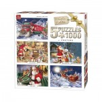 King-Puzzle-05219 5 Puzzles - Christmas