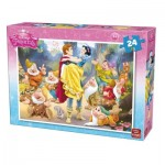 Puzzle  King-Puzzle-05242-B Snow White and the Seven Dwarfs