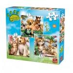 King-Puzzle-05323 3 Jigsaw Puzzles - Animal World