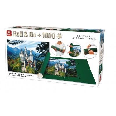 King-Puzzle-05343 Roll & Go + Neuschwanstein Puzzle