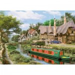 Puzzle  King-Puzzle-05364 Dominic Davison: Cottage On Canal