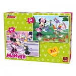 King-Puzzle-05414 2 Jigsaw Puzzles - Minnie