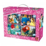 King-Puzzle-05508 4 Jigsaw Puzzles - Disney Princess