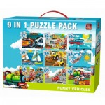 King-Puzzle-05520 9 Puzzles - Funny Vehicles