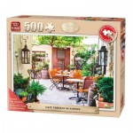 Puzzle  King-Puzzle-05532 XXL Pieces - Café Terrace in Europe