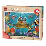 Puzzle  King-Puzzle-05534 XXL Pieces - Turtles in the Sea