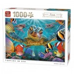 Puzzle  King-Puzzle-05617 Turtles in Sea