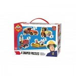 King-Puzzle-05637 4 Jigsaw Puzzles - Fireman Sam