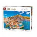 Puzzle  King-Puzzle-05712 Fishing Boats, Hydra Island, Greece
