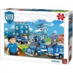 Puzzle  King-Puzzle-55840 Rescue Team - Police Team