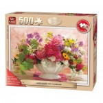 Puzzle  King-Puzzle-55879 XXL Pieces - Language of Flowers