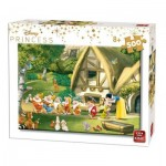 Puzzle  King-Puzzle-55916 Disney Princess - Snow White and the 7 Dwarfs