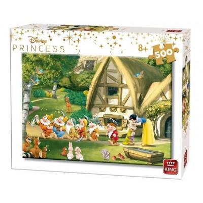 Puzzle King-Puzzle-55916 Disney Princess - Snow White and the 7 Dwarfs