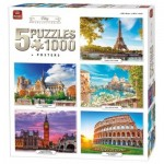 King-Puzzle-85513 5 Puzzles - City Collection