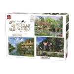 King-Puzzle-85530 3 Jigsaw Puzzles - Dominic Davison: Cottage