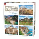 King-Puzzle-85531 5 Jigsaw Puzzles - Europe