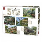 King-Puzzle-85532 5 Jigsaw Puzzles - Dominic Davison: Cottage