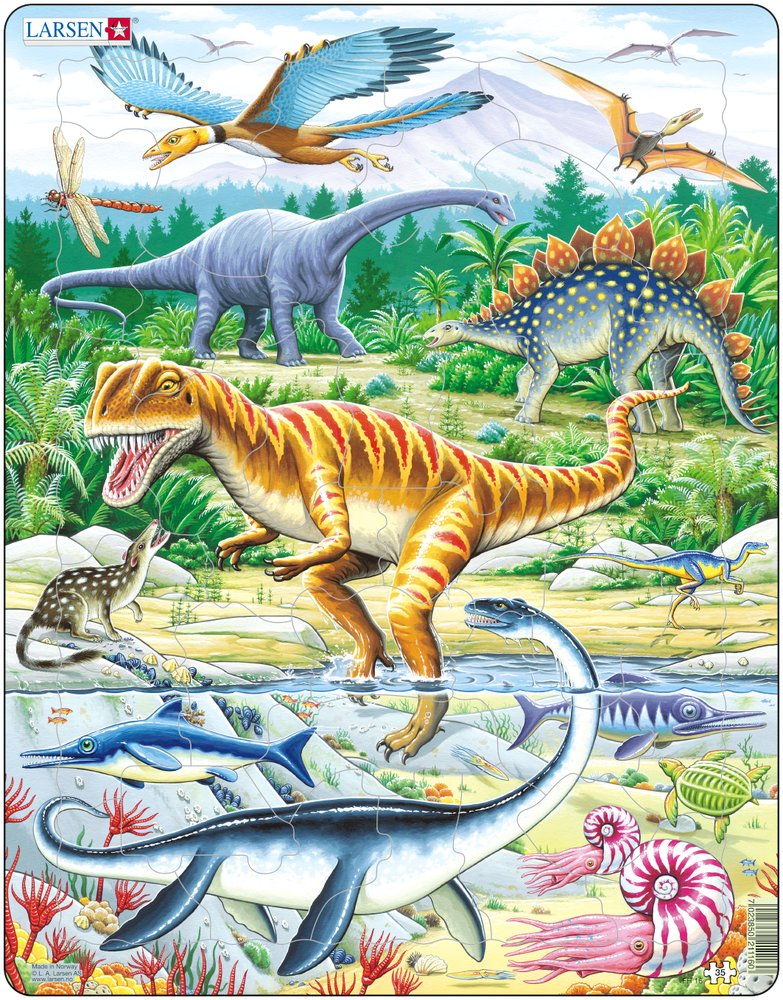 Frame Jigsaw Puzzle Dinosaurs Larsen Fh16 35 Pieces