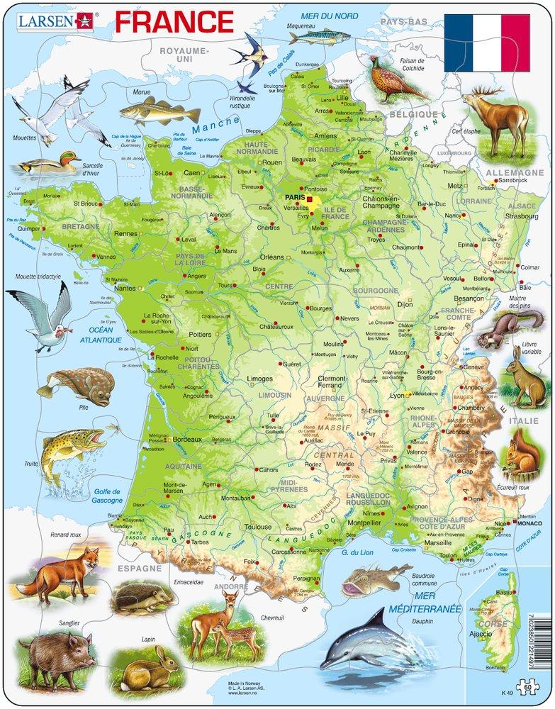 Frame Jigsaw Puzzle France In French Larsen K49 Fr 60