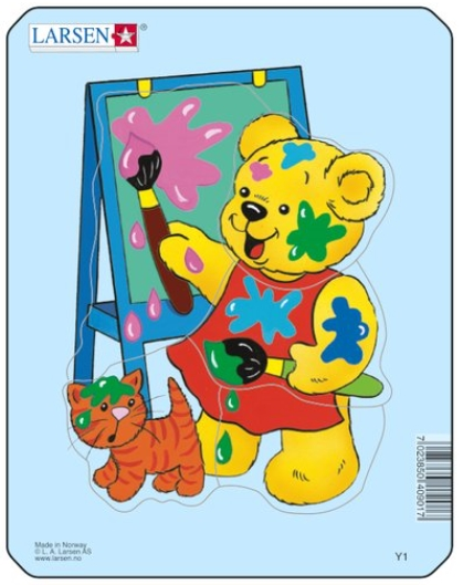 Frame Jigsaw Puzzle Teddy Bears Larsen Y1 3 5 Pieces