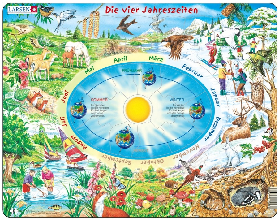 Frame Jigsaw Puzzle The Seasons Of The Year In German