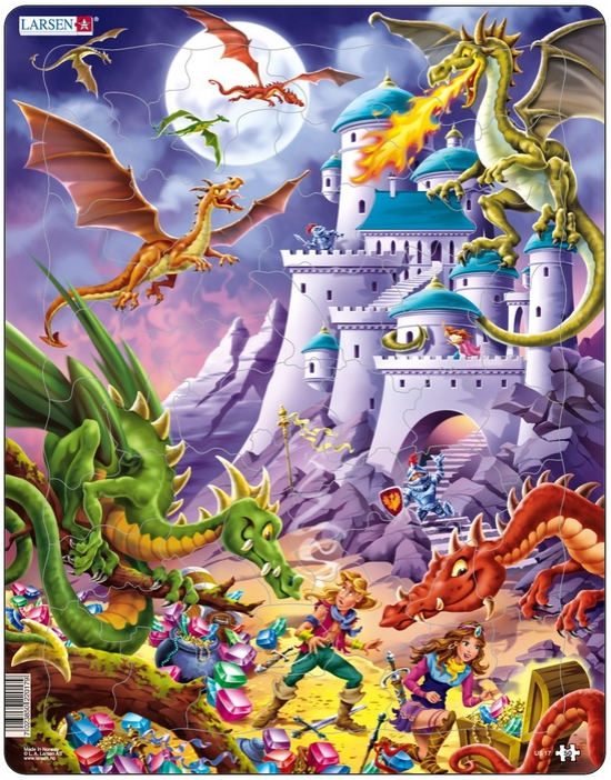 Puzzle Larsen Us17 50 Pieces Jigsaw Puzzles Dragons