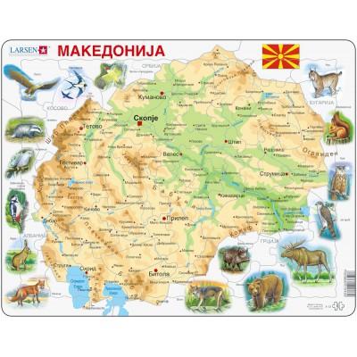 Larsen-A13 Frame Puzzle - Macedonia Physical