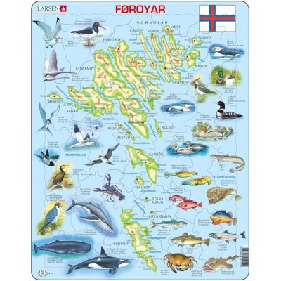 Larsen-A15-FO Frame Puzzle - Faroe Islands