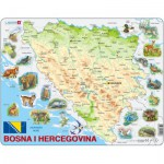 Larsen-A20 Frame Puzzle - Bosnia and Herzegovina with Animals