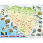 Larsen-A20 Frame Puzzle - Bosnia and Herzegovina with Animals