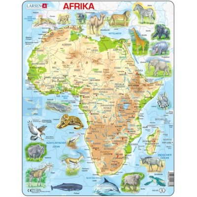 Larsen-A22-DE Frame Jigsaw Puzzle - African (in German)