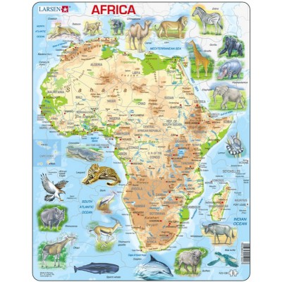 Larsen-A22-GB Frame Jigsaw Puzzle - Africa