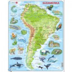 Larsen-A25-DE Frame Jigsaw Puzzle - South America (in German)