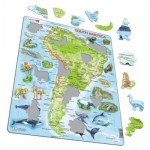 Larsen-A25-ES Frame Puzzle - South America (in Spanish)