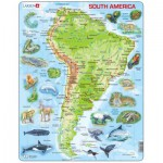 Larsen-A25-GB Frame Jigsaw Puzzle - South America