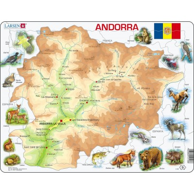 Larsen-A26-CT Frame Puzzle - Catalonia (in Catalan)