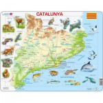 Larsen-A28 Frame Puzzle - Physical Map of Catalonia