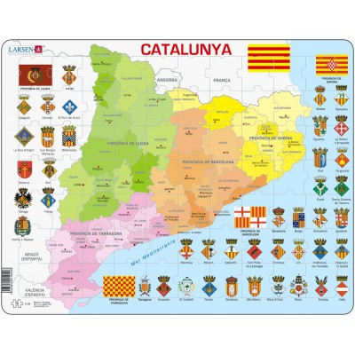 Puzzle Larsen-A29-CT Political Map of Catalonia