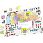 Puzzle  Larsen-A3-LT Frame Puzzel - Map of Lithuania (in Lithuanian)